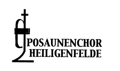 Das Logo des Posaunenchores Heiligenfelde mit einer Trompete.